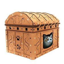 Dead Man's Chest Cardboard Cat House