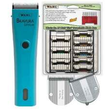 Bravura Lithium Ion Torquoise Clipper 8 Piece Kit Inc 5 in 1 Attachment Comb Set