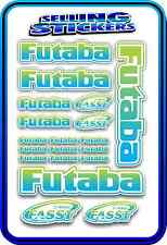 FUTABA SERVO RADIO RX TX 2.4G FLIGHT REMOTE CONTROL STICKERS FASST BLUE GREEN W