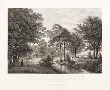 DRESDEN - GROSSER GARTEN - Kaitzbach - Ch.G. Hammer - Radierung 1829