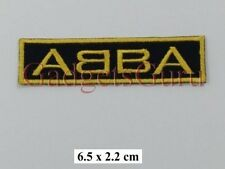 ABBA Rock Music band Logo EMBROIDERED Iron on / Sew on PATCH BADGE LOGO