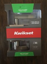 KWIKSET  Hall & Closet Door Lock Signature Series -  Bru-nickel 154HFL SQT 15 CP
