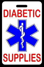DIABETIC SUPPLIES Luggage/Gear Bag Tag - FREE Personalization - New