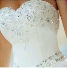 2015 New white/ivory Wedding Dress Ball Gown Size 6-18 UK