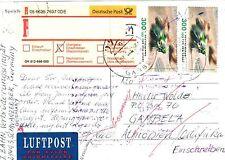 Bund 2034 MEF portogenau auf LP- Ausl.- R- Postkarte von Schwarzenbek 2001