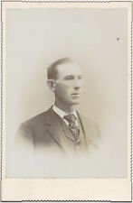 CABINET CARD, TIGHT LIPPED GENTLEMAN IN A SUIT. NEWPORT PA.
