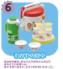 Re-ment dollhouse miniature rice cooker water dispenser seasoning rack bowls