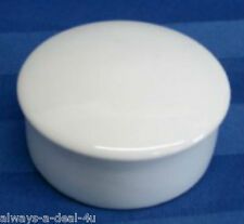 Limoges France White Round Porcelain Jewelry/ Trinket Box