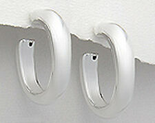 Stylish 35mmx6mm Solid Sterling Silver Oval Tube Hoop Earrings 9g Ret$205