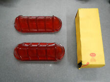 NORS 1961 Buick LeSabre Tail Light Lenses Pair (2) Taillight Red Lens 61