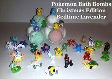 Pokemon Toy inside Poke Ball Bath Bomb  - Lot of 6 Christmas ED Bedtime Lavender