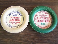 LOT OF TWO - BEYRENTS FARM DAIRY - CLARKS SUMMIT PA - BOTTLE CAPS - NEAR MINT