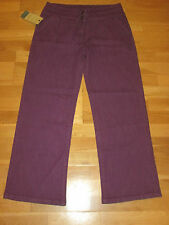 cotton traders wide leg jeans trousers size 10 leg 29 brand new tags amethyst