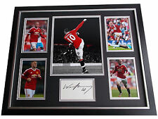Wayne Rooney SIGNED FRAMED Photo Autograph Huge display Manchester United & COA