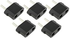 5 x Pcs US USA to EU Euro Europe AC Power Wall Plug Converter Travel Adapter New