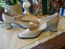 9.2.5 Ankle Strap Heels SZ 7.5M Color:  Pearlized Tan....Excellent Preowned
