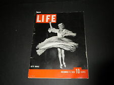 Vintage LIFE MAGAZINE 1939 December 11, Coca Cola Ad, WWII, M1 Rifle, J. Nehru
