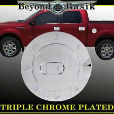 09-14 FORD F150 F-150 Triple ABS Chrome Fuel Gas Door Cover Trim Overlay Caps