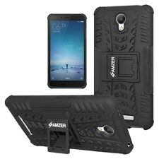 AMZER Rugged Dual Layer Hybrid Warrior Case For Xiaomi Redmi Note 2 Prime -Black
