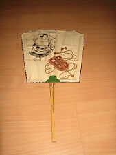 Vintage Japanese Sumo Wrestling Hand Fan Gunbai Referee Signal Paddle