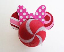 Disney - Minnie Mouse - Peppermint Minnie Head with Polka Dot Bow Antenna Topper