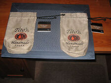 Tito's Handmade Vodka Burlap Bag Pouch Bottle Cover up to 750ml NWT Set of 2