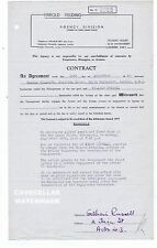 GILLIAN RUSSELL   Signed Entertainment Contract  New Opera House Blackpool  1949