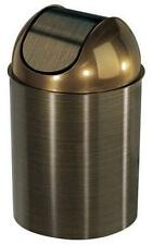 Umbra Mezzo Trash Can Bronze with lid Kitchen Bathroom Offices