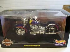 HOTWHEELS 1:10 SCALE HARLEY DAVIDSON SOFTAIL NEVER OPEN