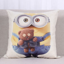 Throw Cushion Cover Pillows Case Despicable Me Minions Bed Car Home Decorations