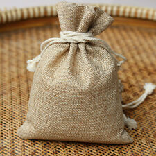 1Pc Linen Jewellery Drawstring Pouch Ring Beads Mini Candy Bags Burlap Gift Bags