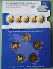 Deutschland Off. Blister 2-Euro-Gedenkmünzenset 2006 Holstentor 5 x 2 Euro Proof