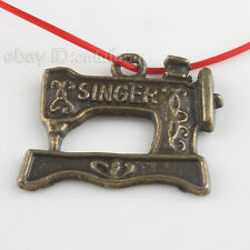40x Sewing Machine Bronze Charms Pendants 22mm 140379