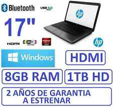 "Ordenador portatil HP 17"" ,RAM 8Gb , HD 1Tb, HDMI ATI 1696MB"