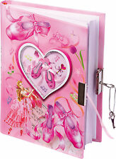 Girls Pink Glitter Dance Dancing Ballet Ballerina Lockable Diary Journal 8073