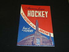 1949 1950 ST. LOUIS FLYERS AHL HOME HOCKEY PROGRAM VS PROVIDENCE REDS EX-MINT