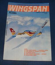 WINGSPAN MAGAZINE OCTOBER 1985 - THE FIRST ENEMY - JUNKERS JU88A