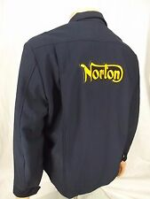 NORTON Mechanic Work Motorcycle Jacket Coat vintage cafe racer XXL 44r NICE!