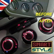 SmartStyle Aluminium SILVER Heater Knobs Buttons - VW Golf/Jetta/Passat/Caddy/…