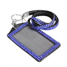 Rhinestone Crystal Long Lanyard And ID Badge Holder For Photo ID Cards Diamante