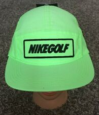 SUPREME Green Nike Golf BOX LOGO AW84 Tech Cap 5 Panel Hat W/ Brown Strapback