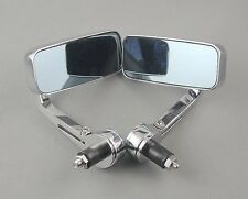 "CHROME UNIVERSAL 7/8"" HANDLE/BAR END MIRRORS MOTORCYCLE REAR VIEW SIDE MIRROR"