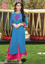 XXL Fancy Designer Heavy Rayon Cotton Embroidered Kurti, Kurta,Tunic