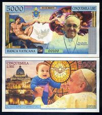Vatican, 5000 Lire, 2016 Private Issue Kamberra, UNC   Pope Francis