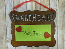 Rustic metal Sweetheart hanging picture frame UNIVERSAL fits many size photos