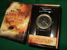 New Adult Men's Supernatural Anti Possession Symbol Logo Wrist Watch In Gift Box