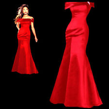 Evening dress prom womens bridesmaid wedding dress formal gown size 4 RED