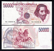 Italy50000 Lire 50,000 L. 1984 UNC Note P. 113a Pre-Euro