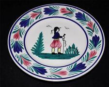 """Henriot Quimper Bread & Butter Plate, 6 1/2"""", Man Center, Faience"""