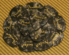 098-0351-943 (12) Fender Heavy Black Moto Celluloid 351 Guitar Picks
